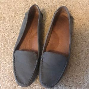Gray Ugg brand loafers